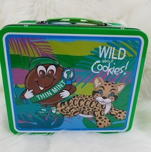 Rare Girl Scout Thin Mint Tin LunchBox os